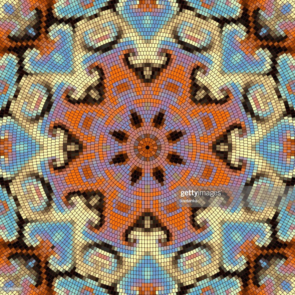 Seamless mosaic pattern