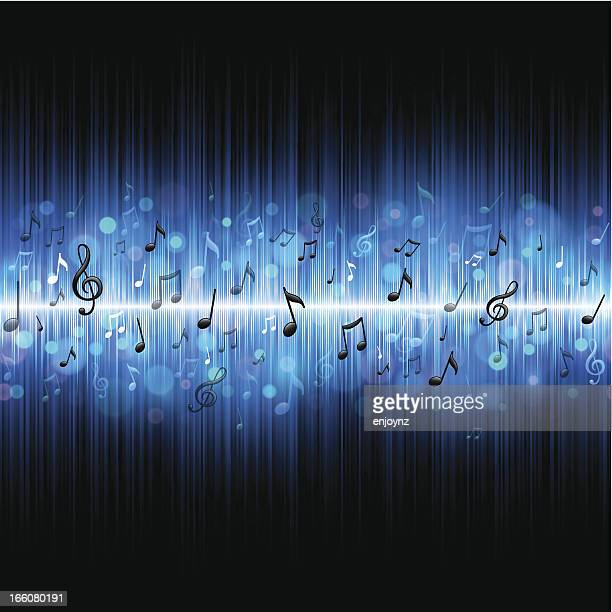 seamless music background - sheet music stock illustrations, clip art, cartoons, & icons