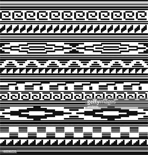 seamless - native american, aztec, mian pattern - southwest usa stock illustrations, clip art, cartoons, & icons