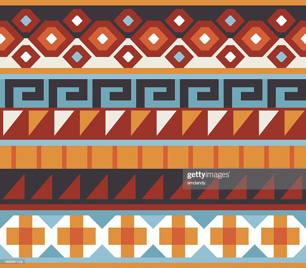 Seamless - Native American, Aztec, Mian Pattern : stock illustration
