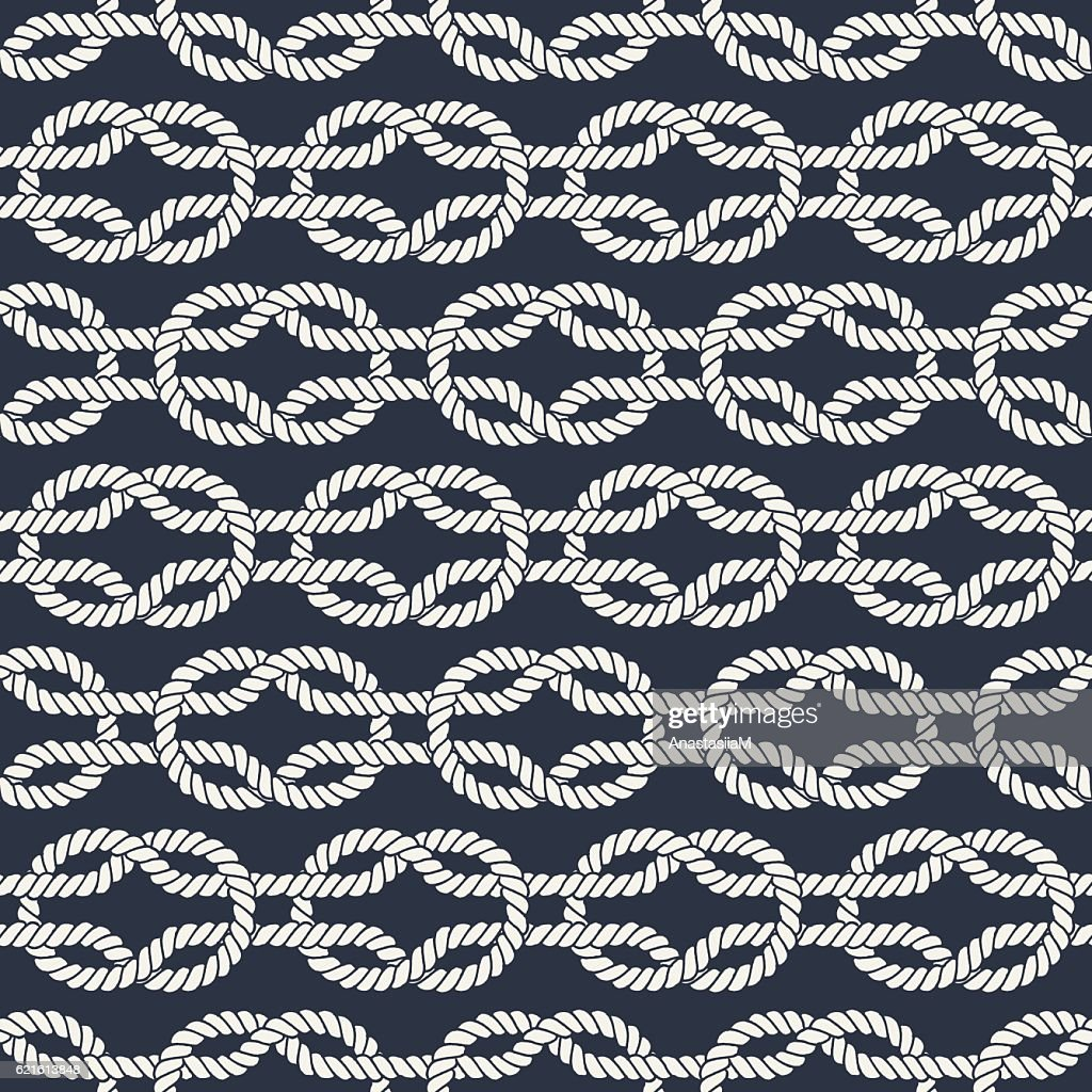 Seamless Nautical Rope Pattern Square Knots Vector Art Getty Images Knot Diagram