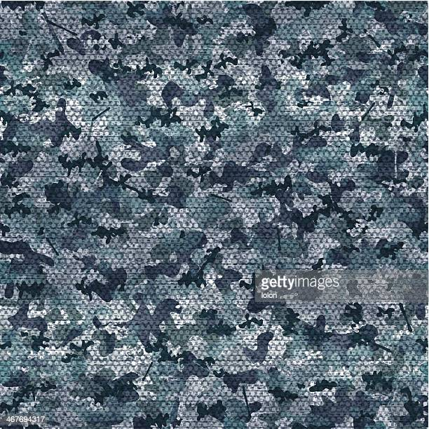 seamless navy camouflage wallpaper - camouflage stock illustrations