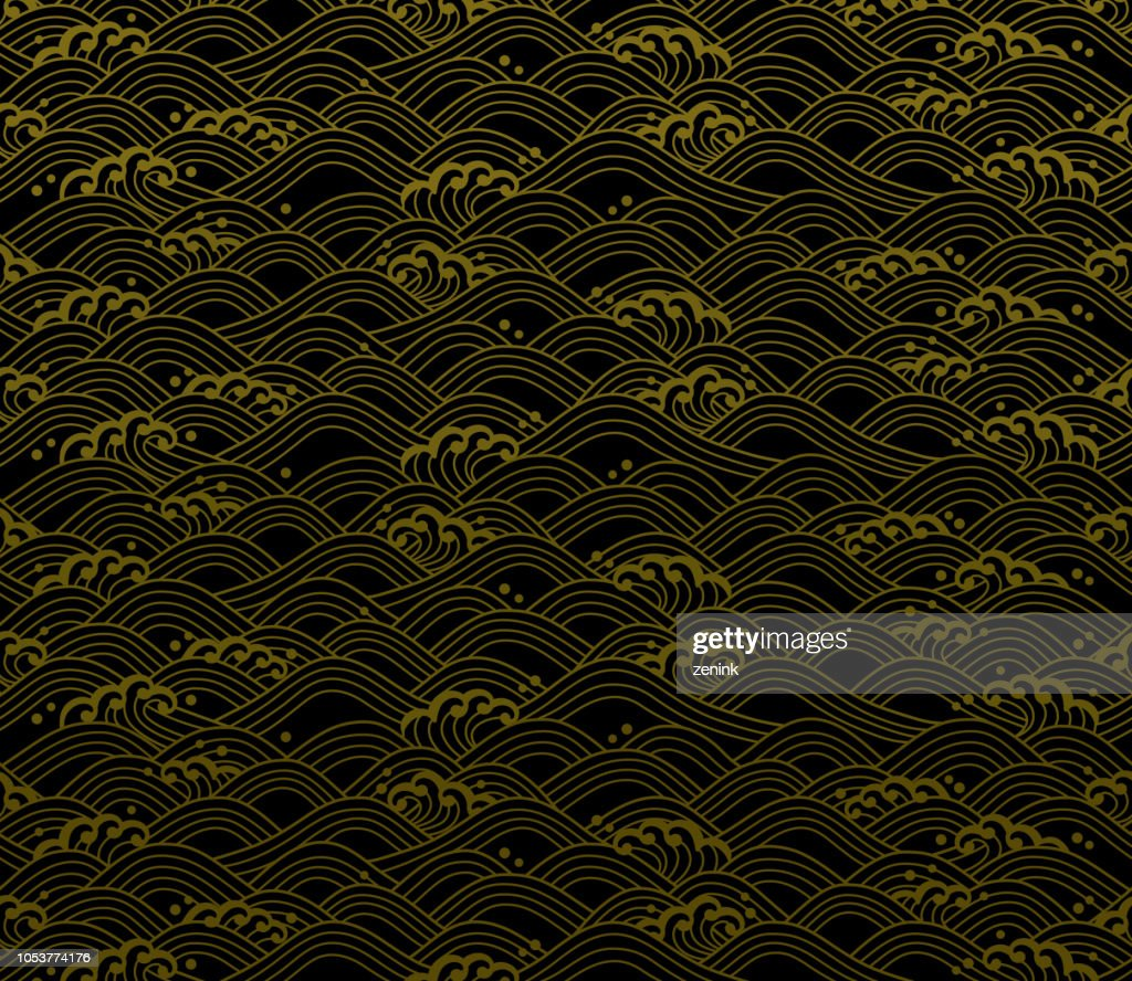 seamless ocean wave pattern.