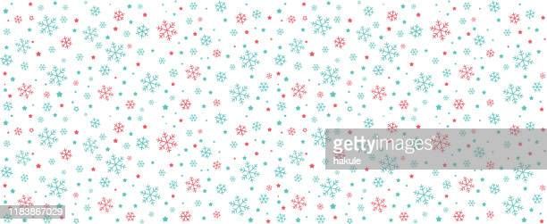 雪片と星のシームレス、ベクトルイラストの背景 - 公的祝日点のイラスト素材/クリップアート素材/マンガ素材/アイコン素材