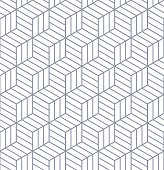 Seamless op art pattern. 3D illusion.