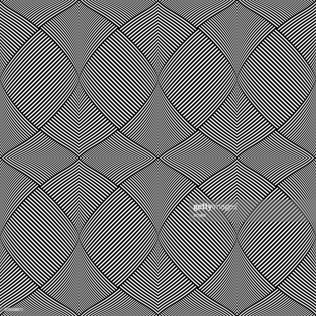 Seamless op art pattern.