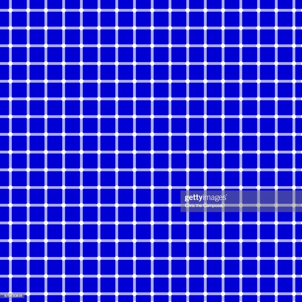 Seamless optical illusion - blue background with white dots