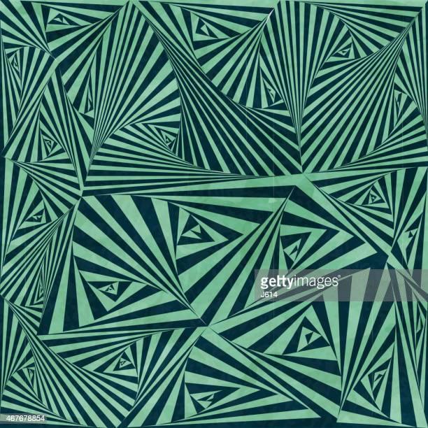 seamless optical illusion pattern - spiked stock illustrations