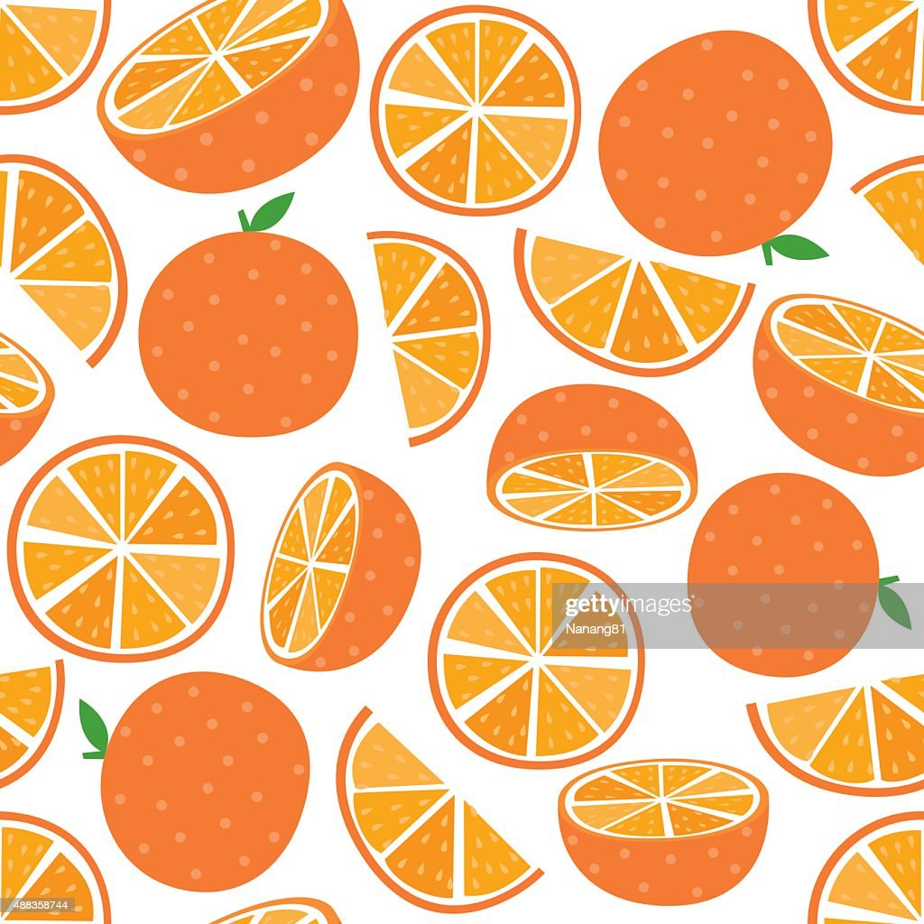 Seamless Orange Fruit