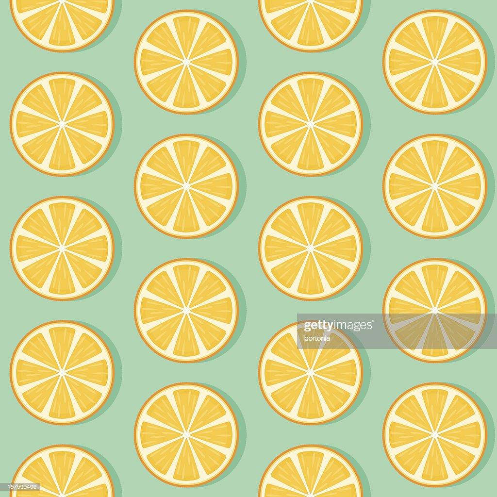 Seamless Orange Slice Pattern stock illustration - Getty Images