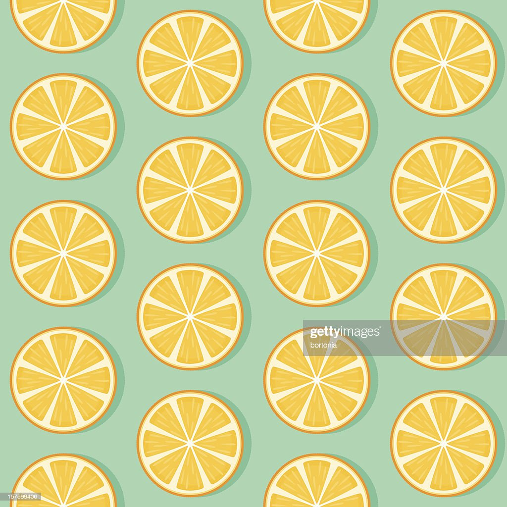 Seamless Orange Slice Pattern