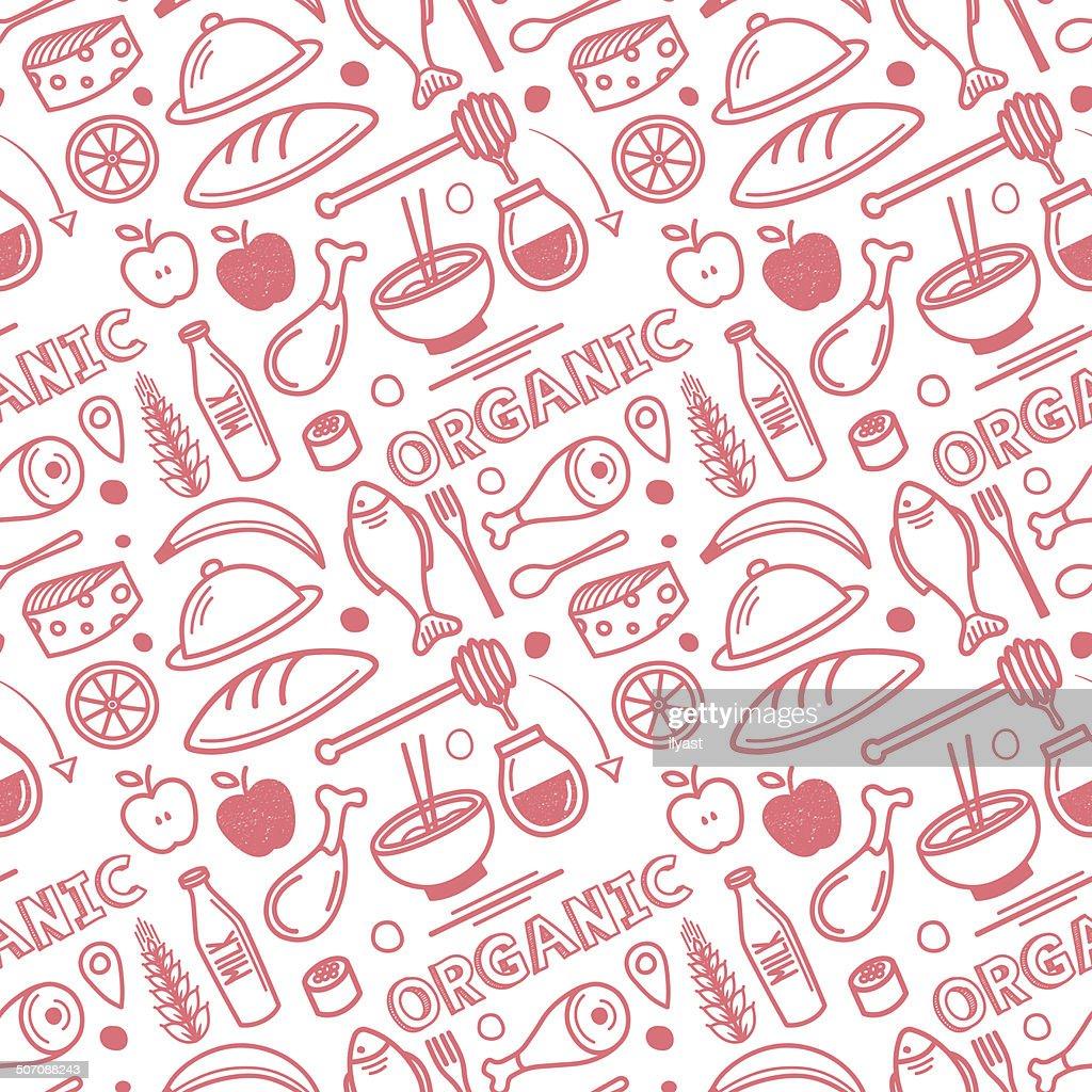 Seamless Organic Food Pattern