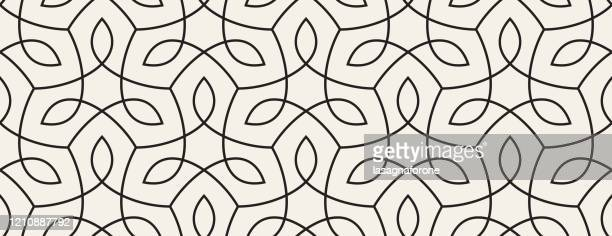 seamless organic nature plant vector pattern - in a row stock illustrations