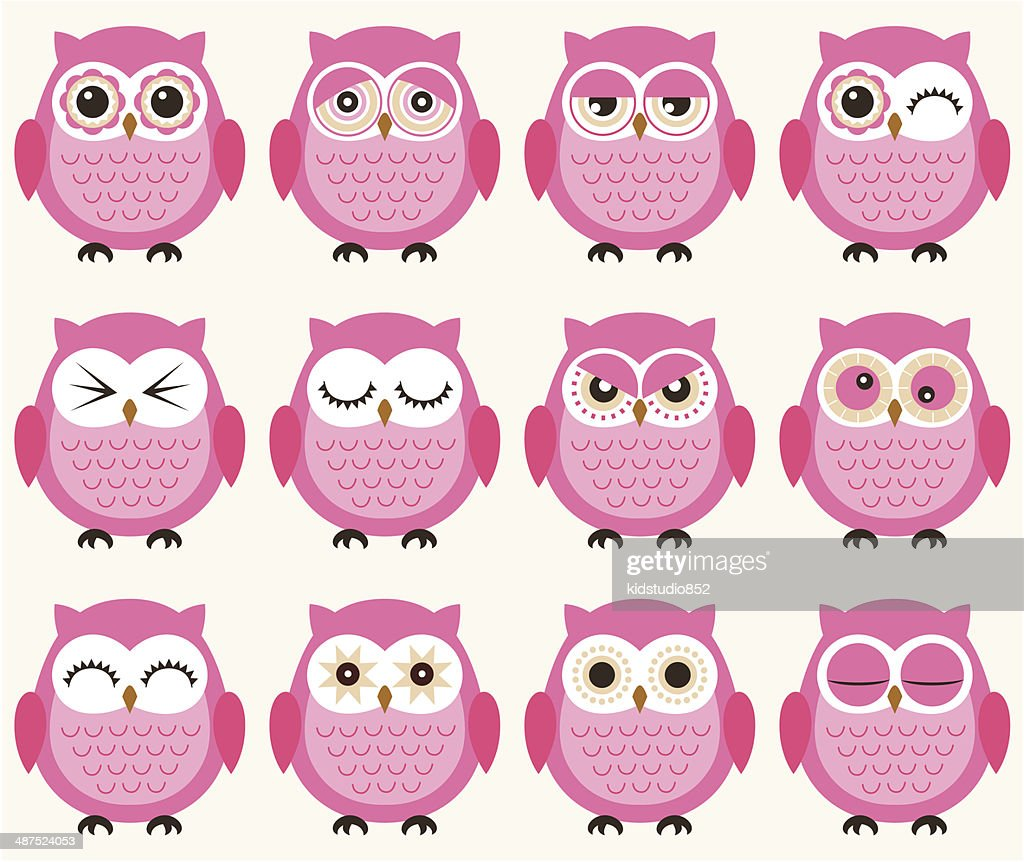 seamless owls birds pattern