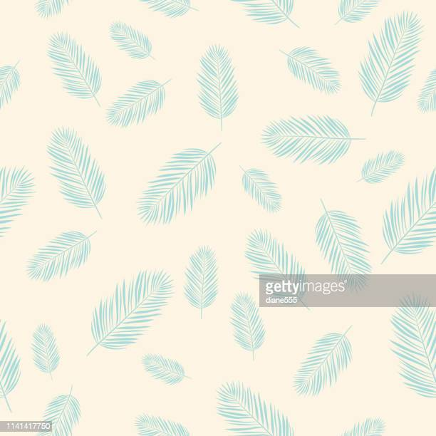 Seamless Palm Tree Leaf Pattern