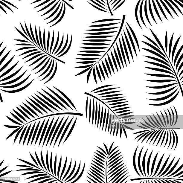 seamless palm - palm leaf stock illustrations