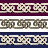seamless paper knot frame background