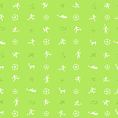 Seamless patten background for soccer or football sport theme