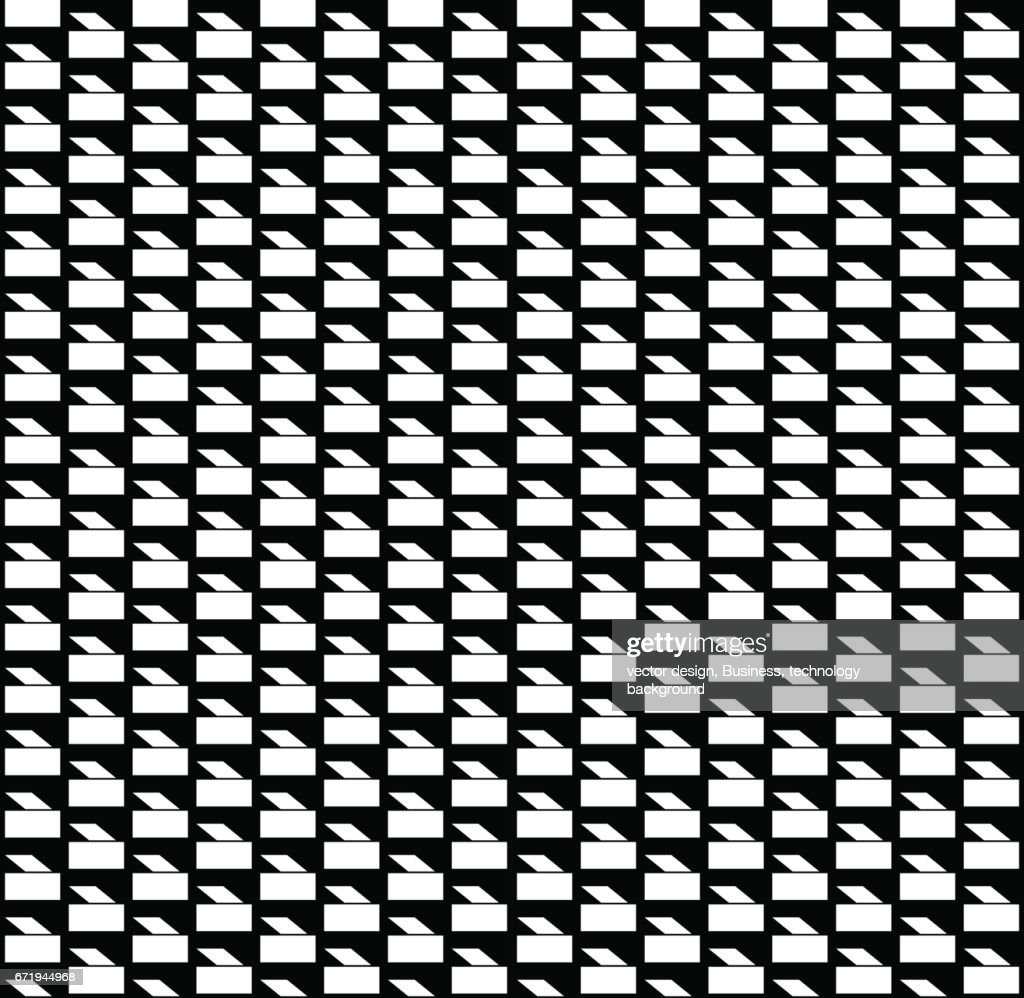 Seamless pattern. Abstract Black and White Background. Vector Regular Texture.