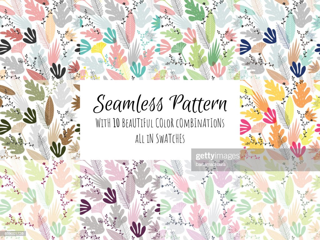 Seamless pattern abstract shapes based on organic forms