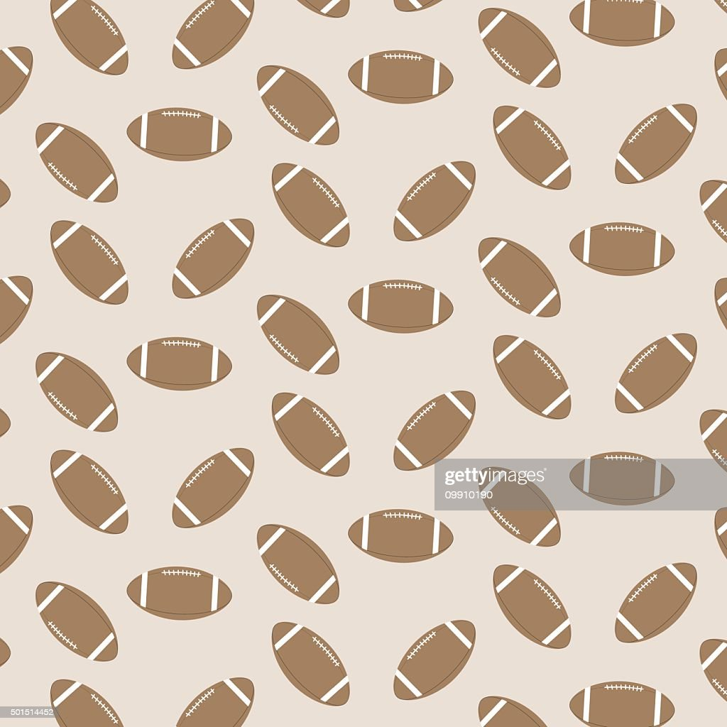 Seamless pattern american football
