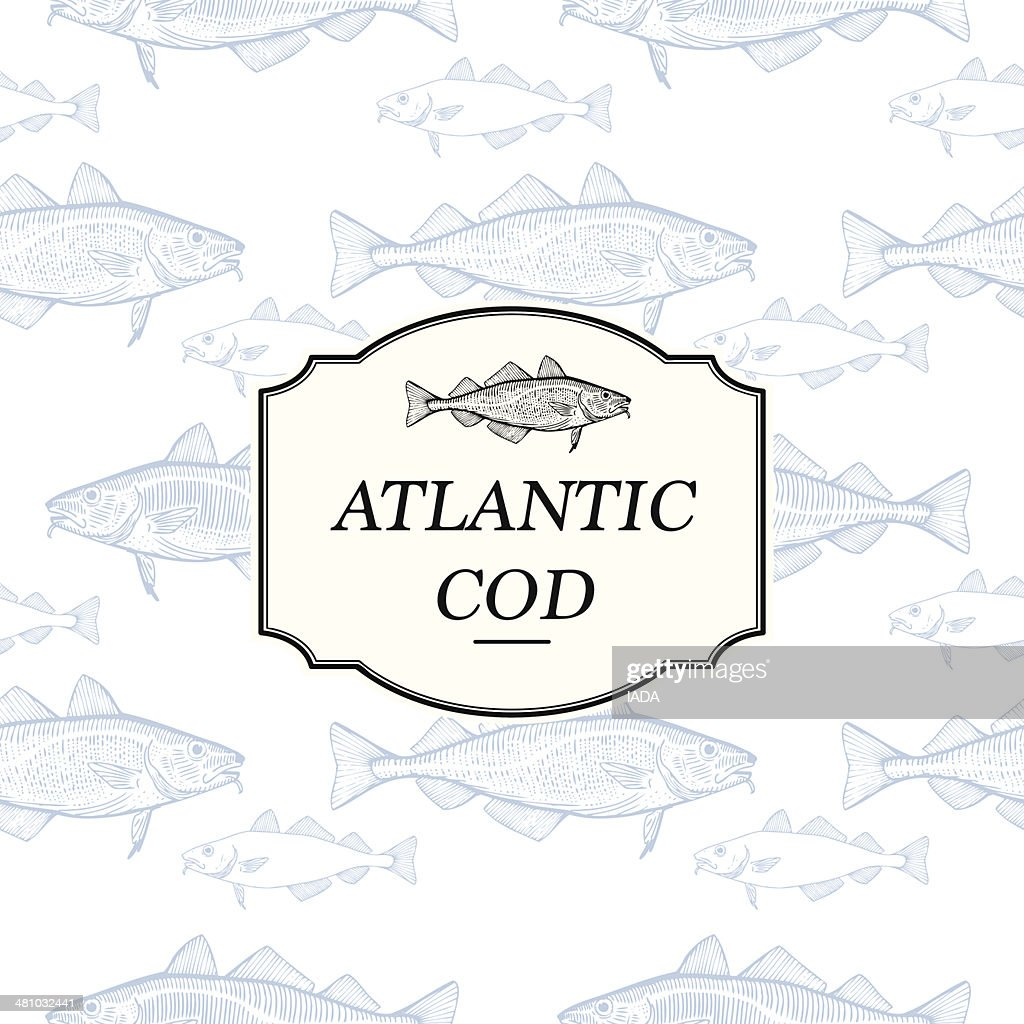 Seamless Pattern - Atlantic Cod