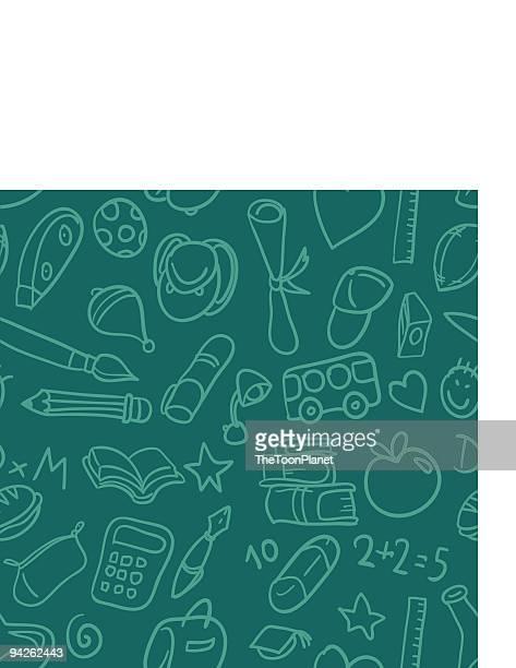 seamless pattern: back to school - encyclopaedia stock illustrations, clip art, cartoons, & icons