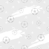 Seamless pattern background for soccer or football sport theme