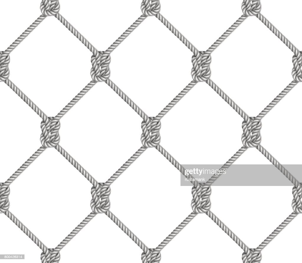 Seamless pattern, background, gray rope woven in the form fishing net