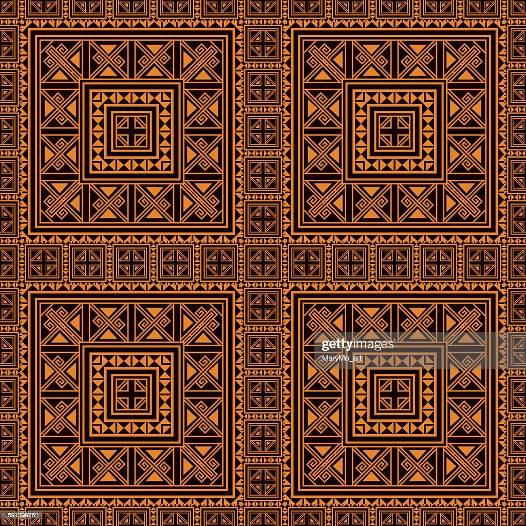 Seamless pattern background in orange and black colors.