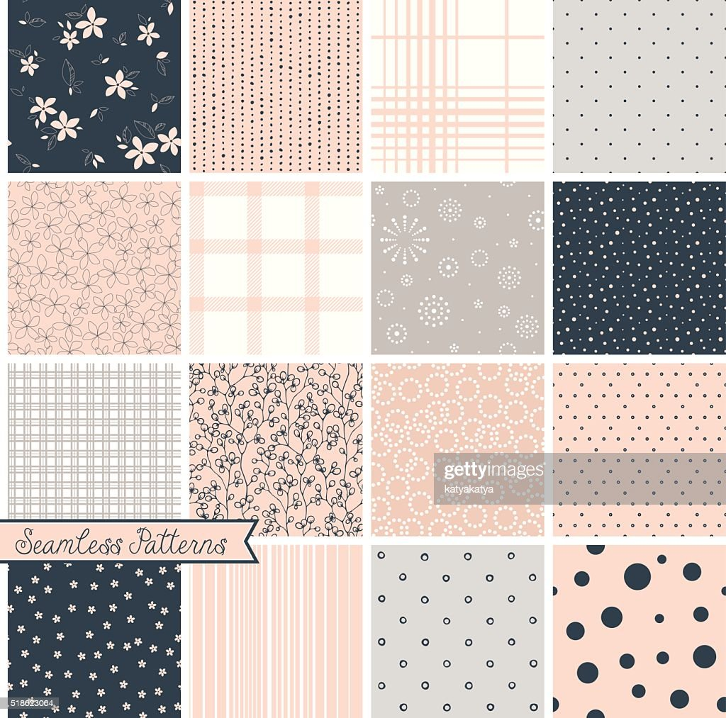 Seamless Pattern Blush Set