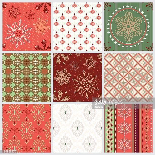 nahtlose muster, weihnachten - teil einer serie stock-grafiken, -clipart, -cartoons und -symbole