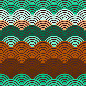 seamless pattern circles Brown beige claret green print, Geo hipster backdrop modern trendy Geometric abstract background. Can be used for fabrics, wallpapers, websites. Vector