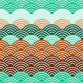 seamless pattern circles Brown claret green print, Geo hipster backdrop modern trendy Geometric abstract background. Can be used for fabrics, wallpapers, websites. Vector