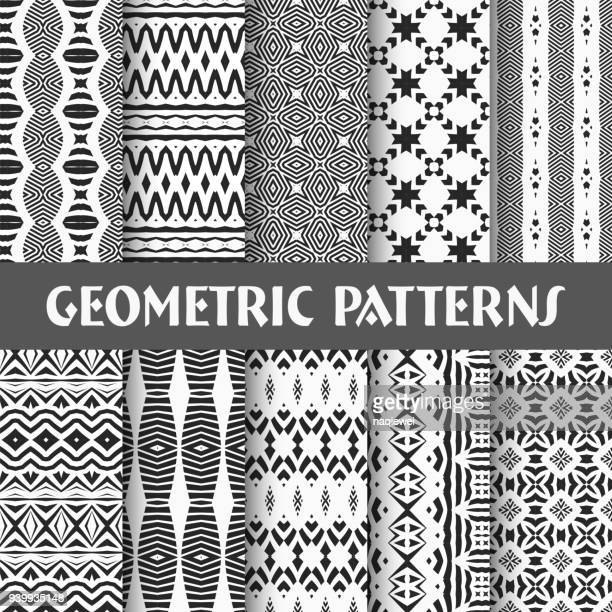 seamless pattern collection - pastry lattice stock illustrations, clip art, cartoons, & icons