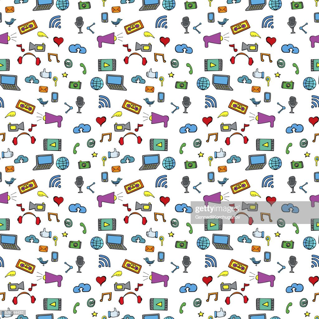 Seamless pattern color social network