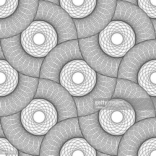 Seamless Pattern Concentric Circles