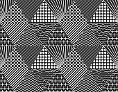Seamless pattern consisting of abstract triangles, can serve as a cover for your designs, vector illustration