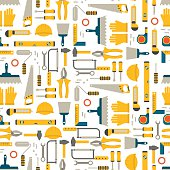 Seamless pattern construction tools vector.