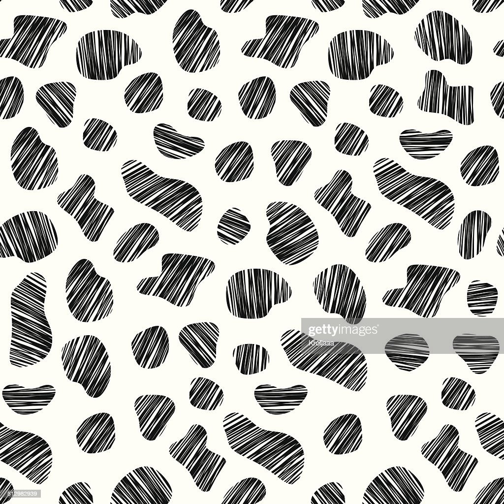 Seamless pattern cow. Abstract sketch. Vector illustration. Background