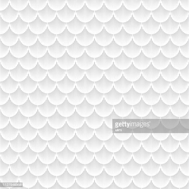 Seamless pattern, fish scales, one color