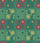 Seamless pattern flower in ethnic style.
