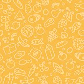 seamless pattern: food