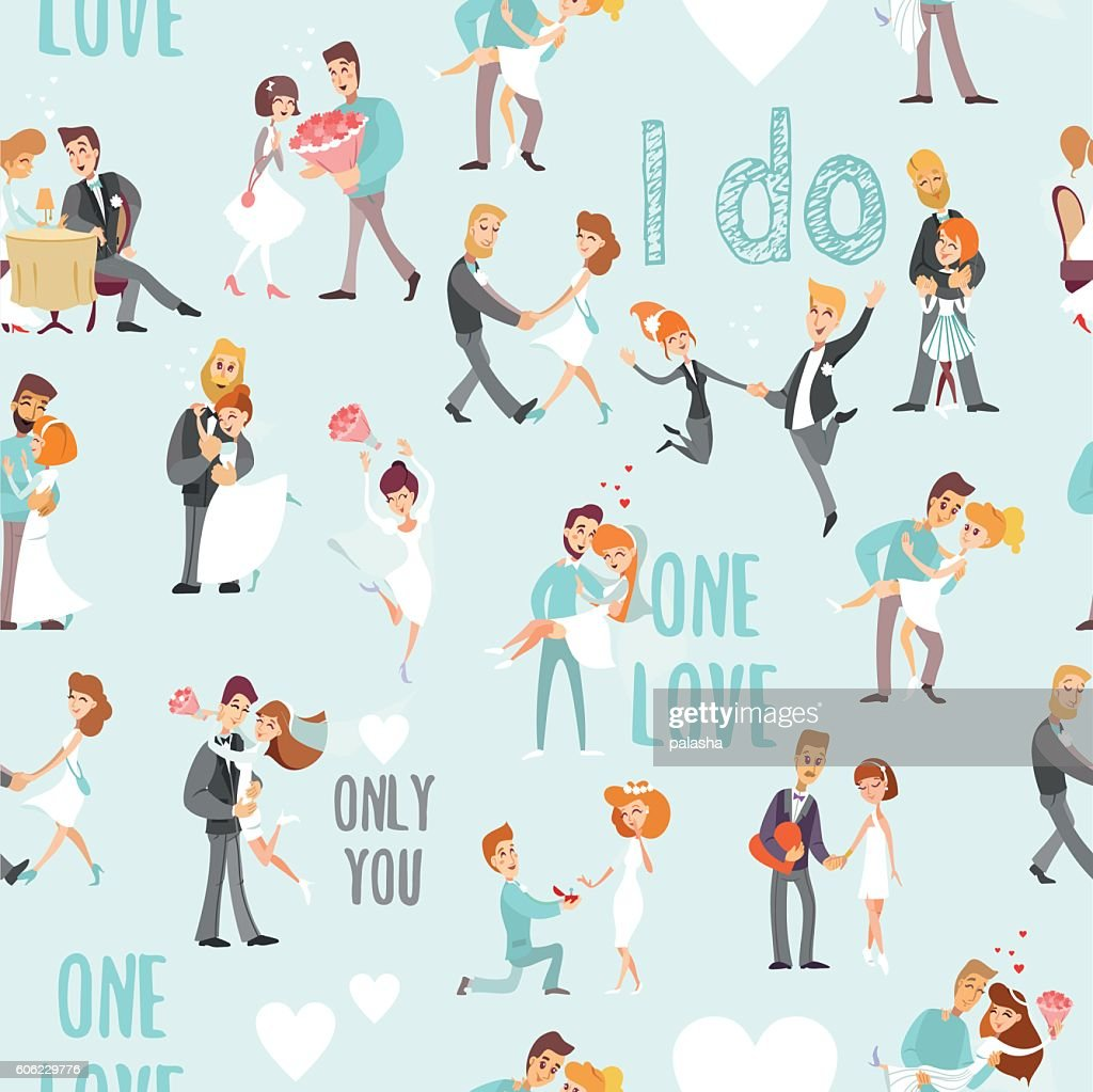 Seamless pattern for wedding invitation