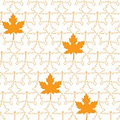 Seamless pattern from Maple Leafs, vector illustration