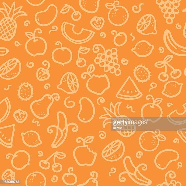 Motif sans couture: Fruits frais