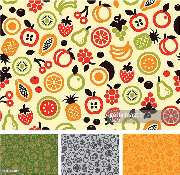 Seamless pattern - fruit