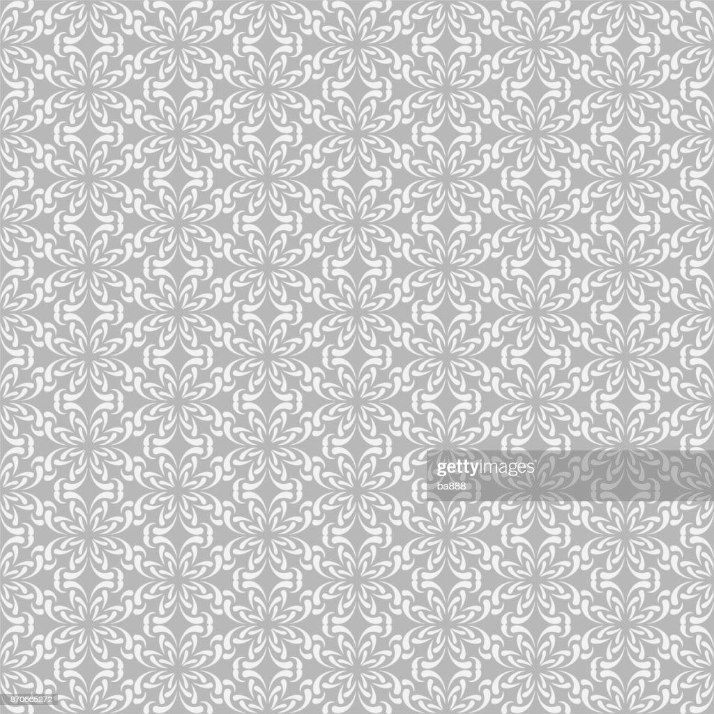 Seamless pattern, gray background, vector illustration