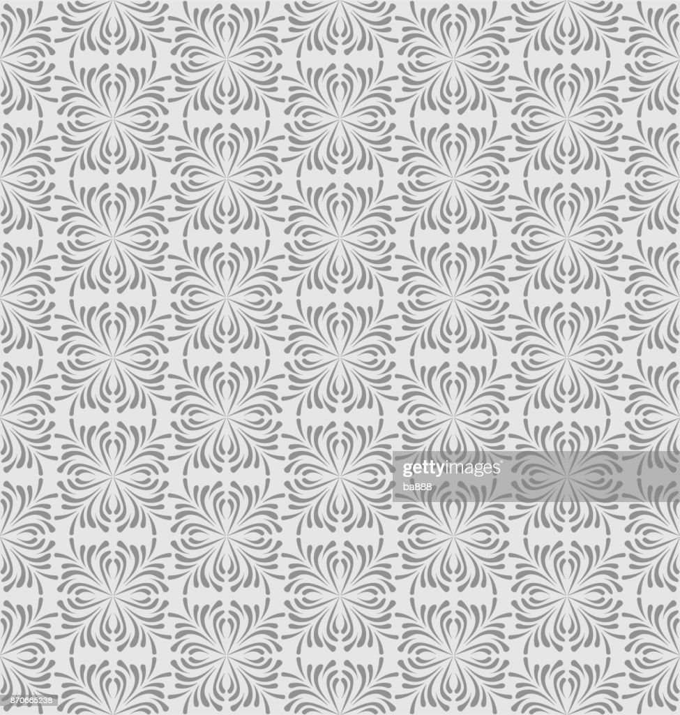 Seamless pattern, grey background