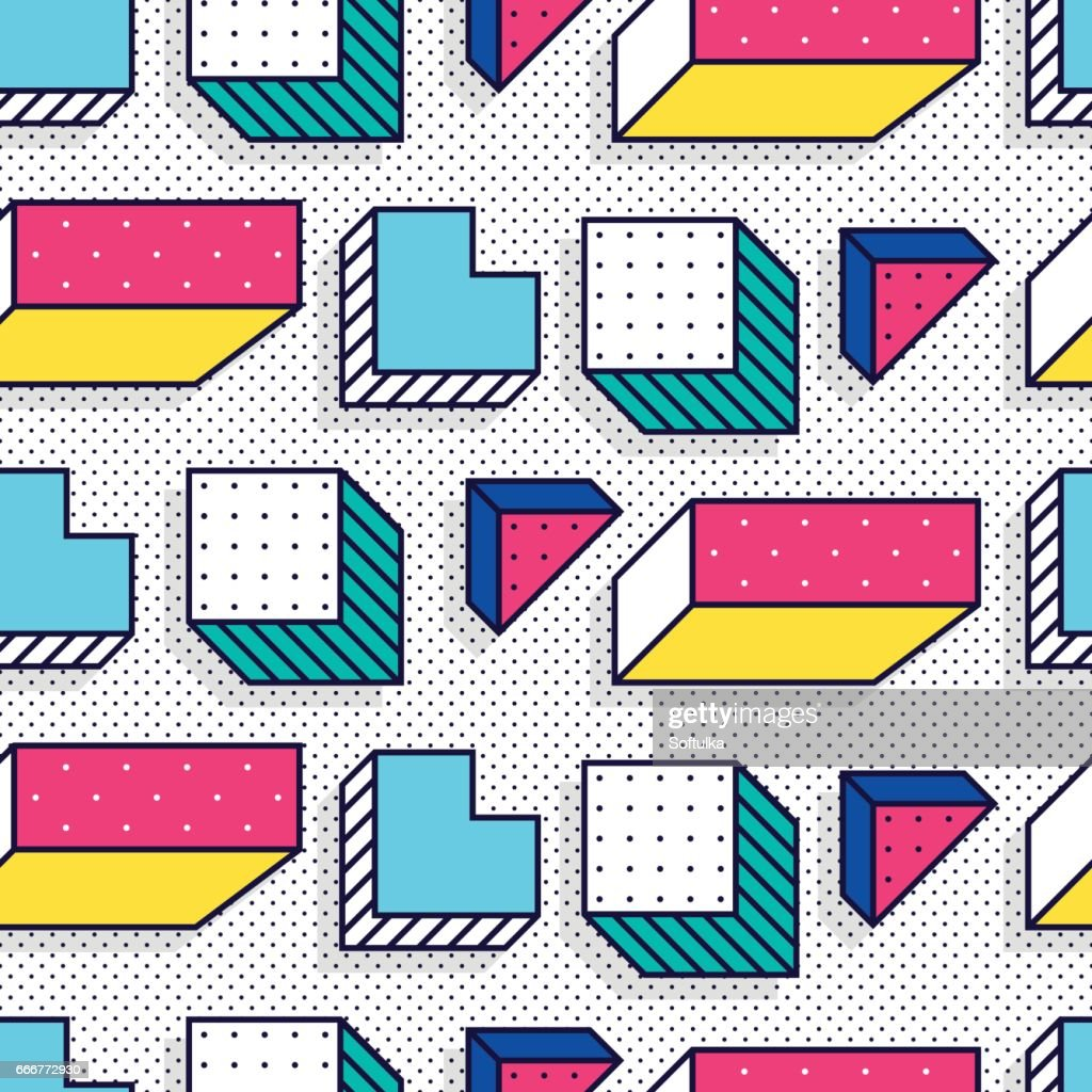 Seamless pattern in 90 80 style
